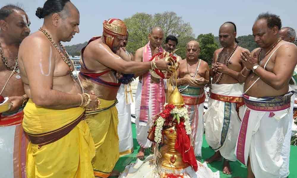 Maha Samprokshanam at Sri Varaha Swamy temple concludes