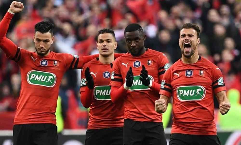 Mbappe sent off as PSG lose French Cup final to Rennes