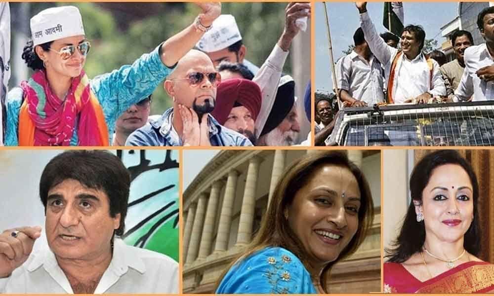 Hindi film stars openly take to politics