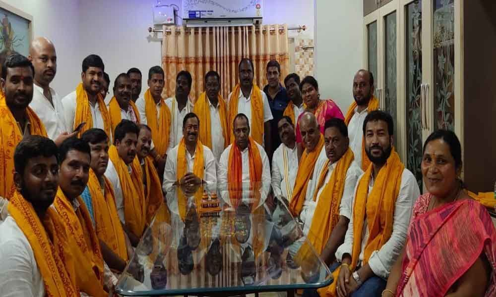 Minister Ch Malla Reddy takes part in Brahmotsavam