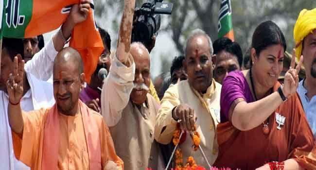 Yogi Adityanath campaigns in favour of Smriti Irani