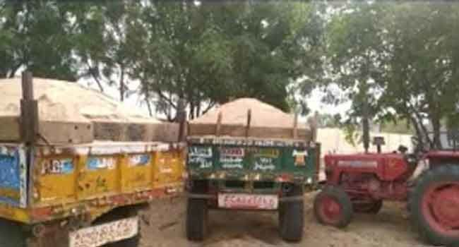 Illegal quarrying and transportation of sand is rampant in Kadapa district