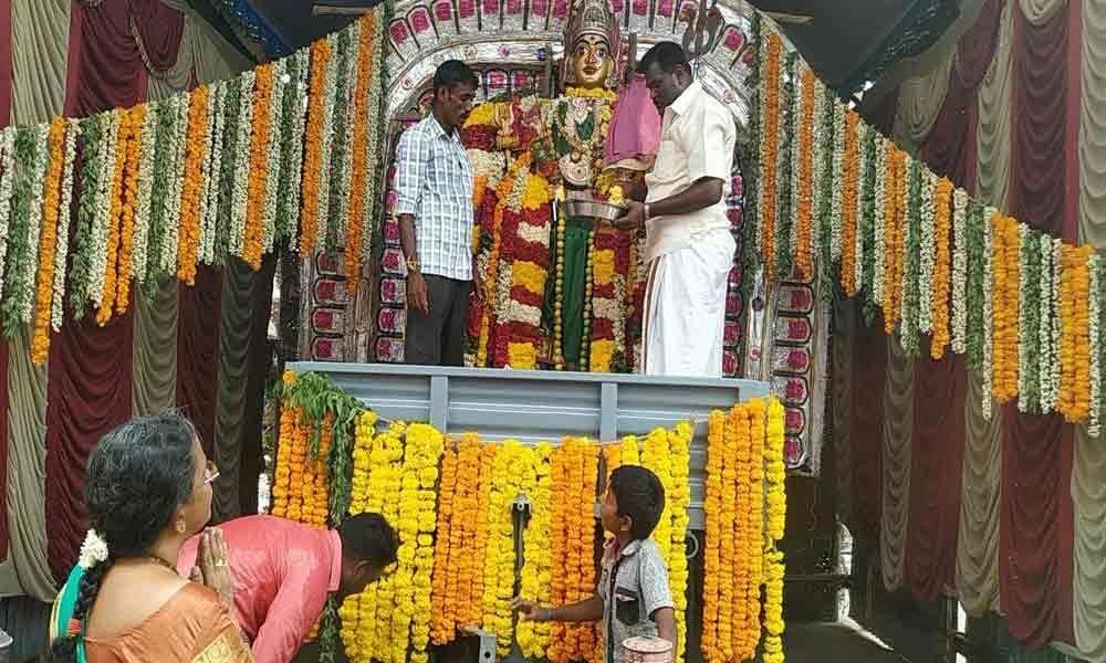 Gangamma fest begins with religious fervour
