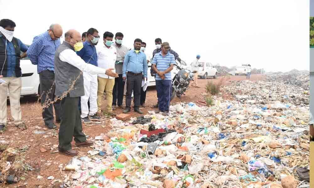 NGT AP panel chief inspects dumping yards in Kadapa
