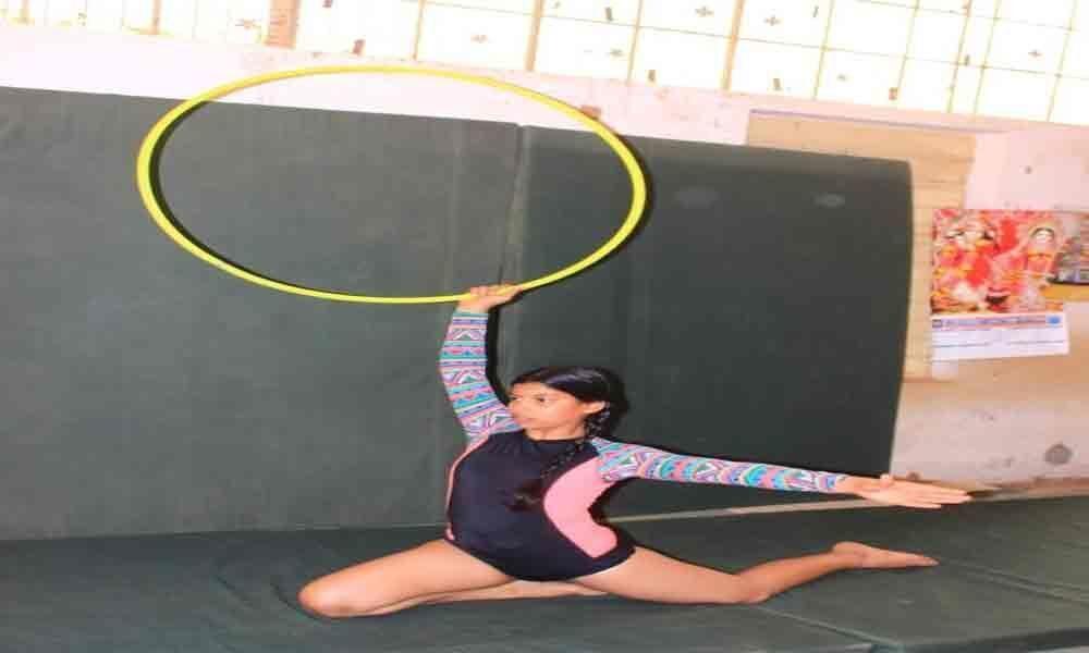Gymnastics coaching underway