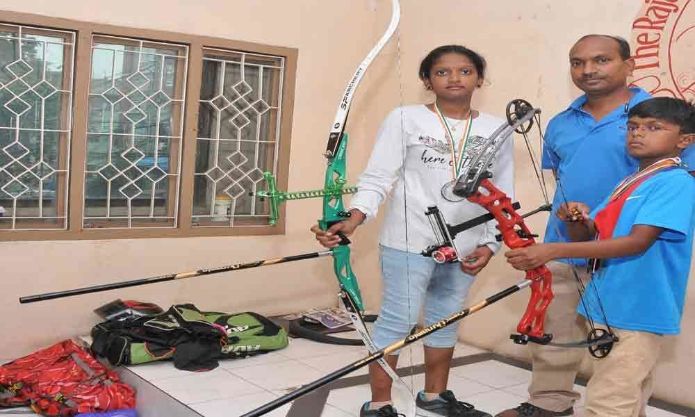 2 students from city win medals in archery
