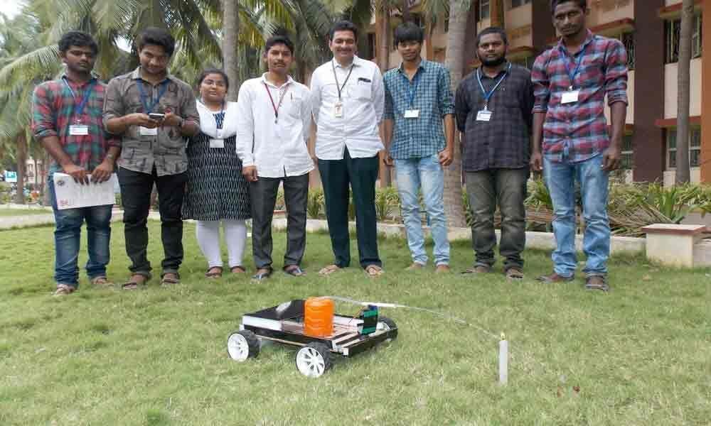 Students develop fire-fighter robot SRKR