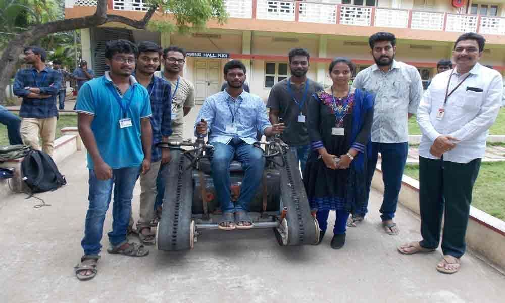 Students design vehicle for physically challenged