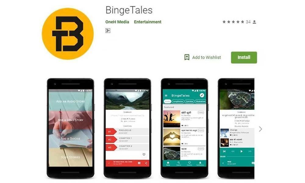 OneH Media launches BingeTales a  fictional story telling application