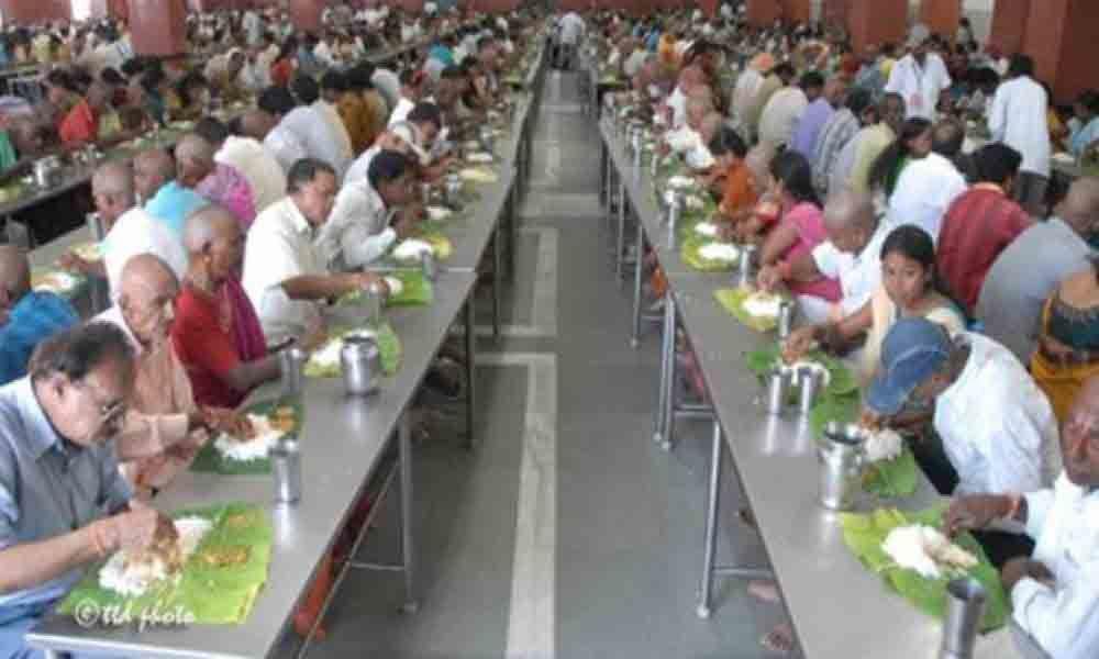 Cash donation towards Anna Prasadam scheme revised in Tirumala