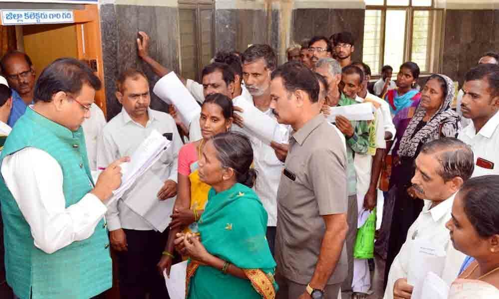 Dist Collector receives petitions in Chittoor
