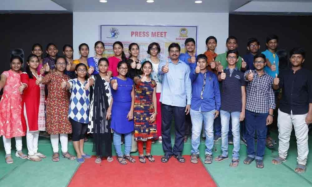 Bhashyam Blooms students excel in CBSE