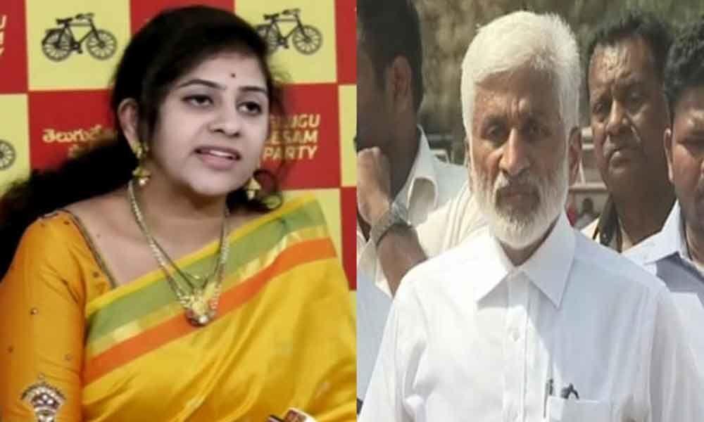 TDP leader Sadineni Yamini fires YSRCP MP Vijaysai Reddy