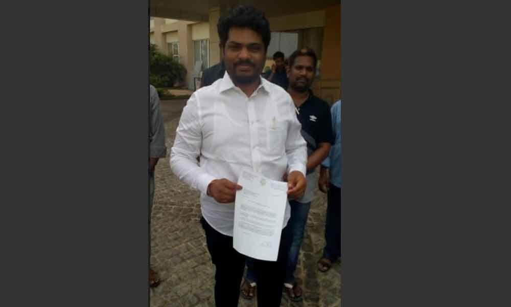 Kidari Sravan Kumar tendered his resignation from the state cabinet