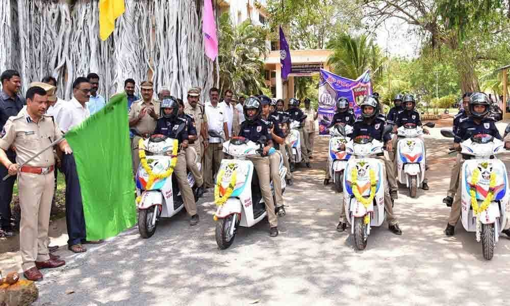 Superintendent of Police S Tripati launches Sakthi teams for women protection