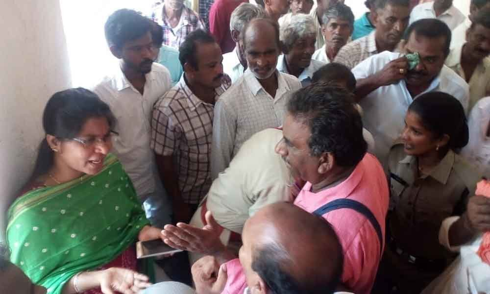 Farmers protest for paddy money
