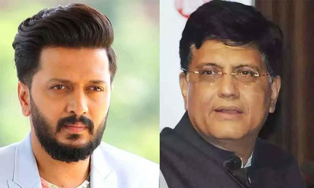 Riteish Deshmukh hits back at Piyush Goyal for his remarks against his father