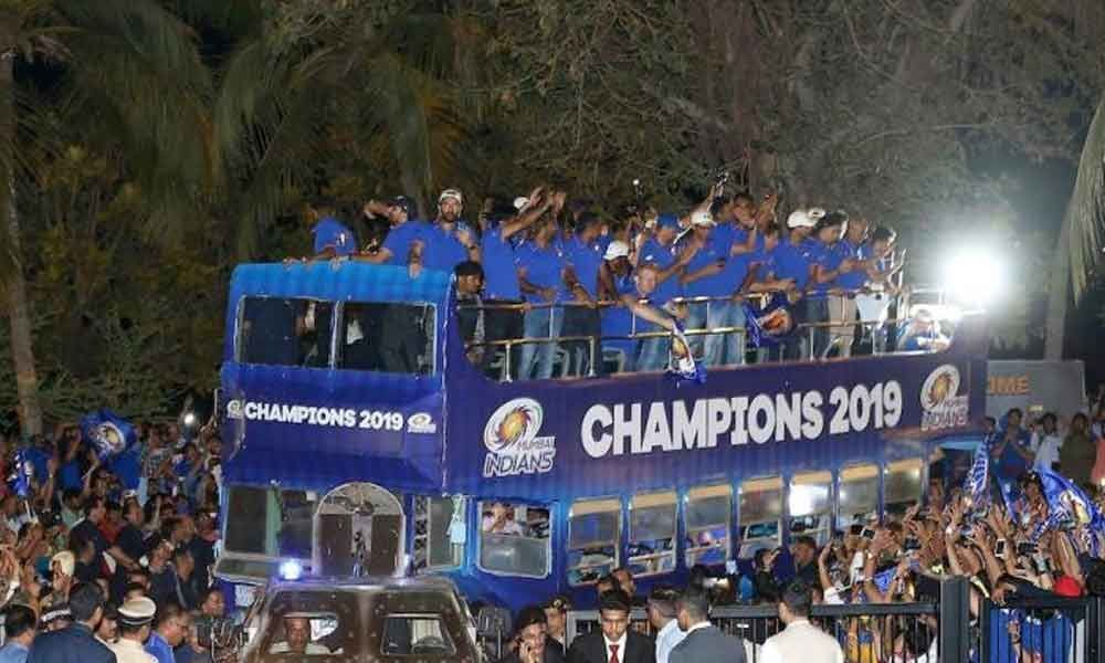 Watch: Mumbai Indians celebrate record fourth IPL title with a victory parade
