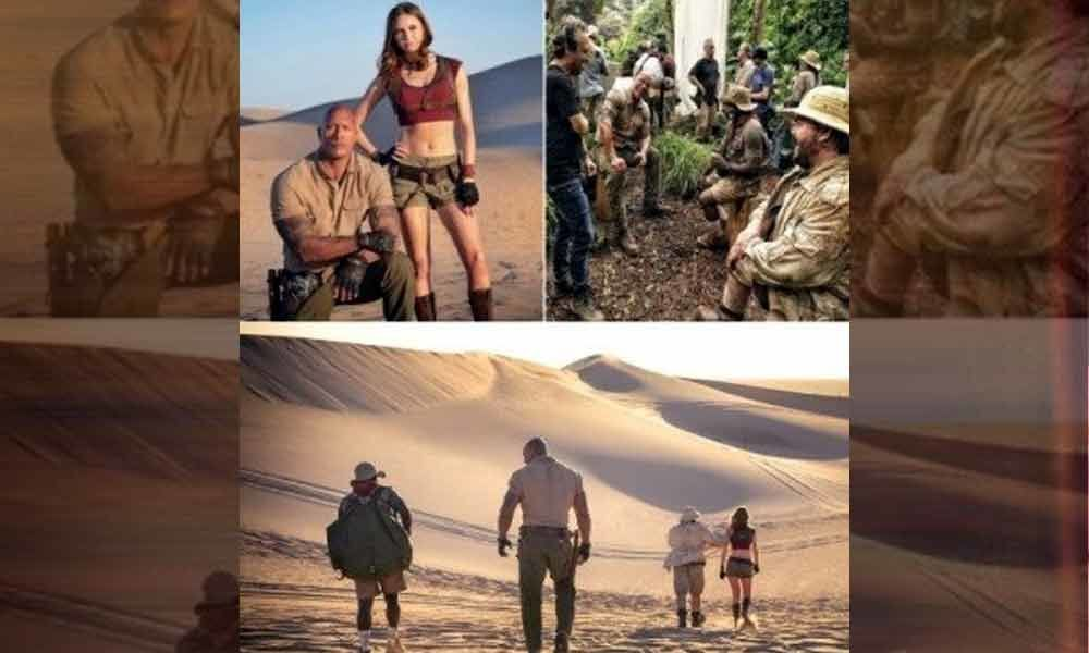Its a wrap for Jumanji 3, Starring Dwayne Johnson and Kevin Hart