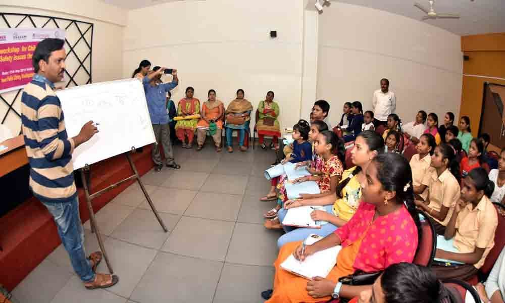 Workshop on child safety issues held in Visakhapatnam