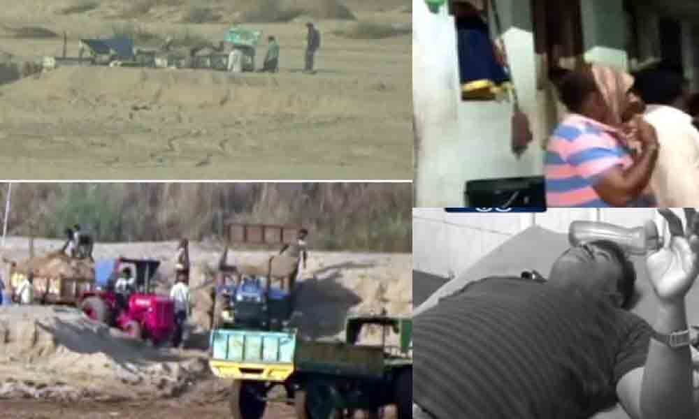2 VROs injured in sand mafia attack : Srikakulam
