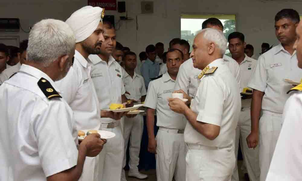 Pre-retirement function for Naval chief : Visakhapatnam