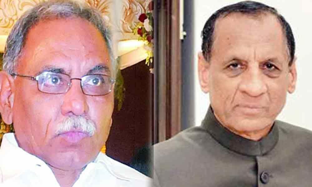 Congress leader KVP meets Governor ESL Narasimhan