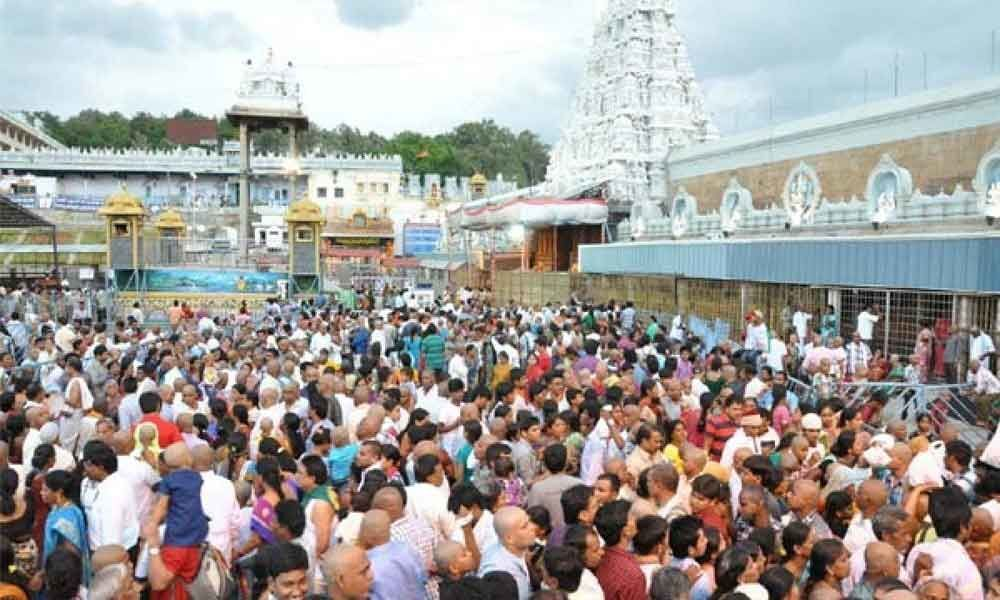 Heavy rush of devotees at Tirumala temple