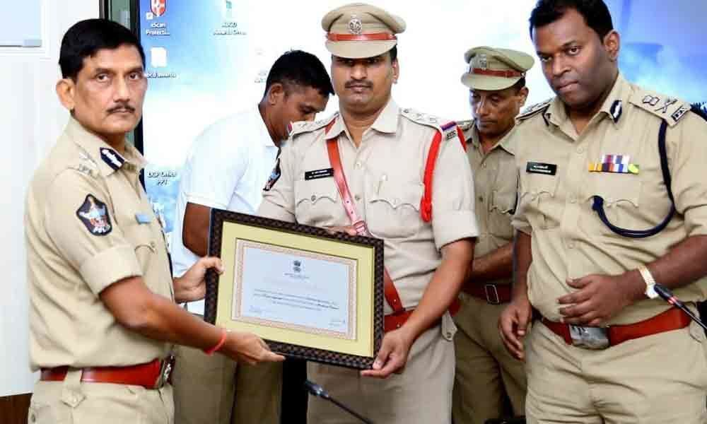 Sithanagaram police station in Vizianagaram made it to the list of 10 top performing police stations in India