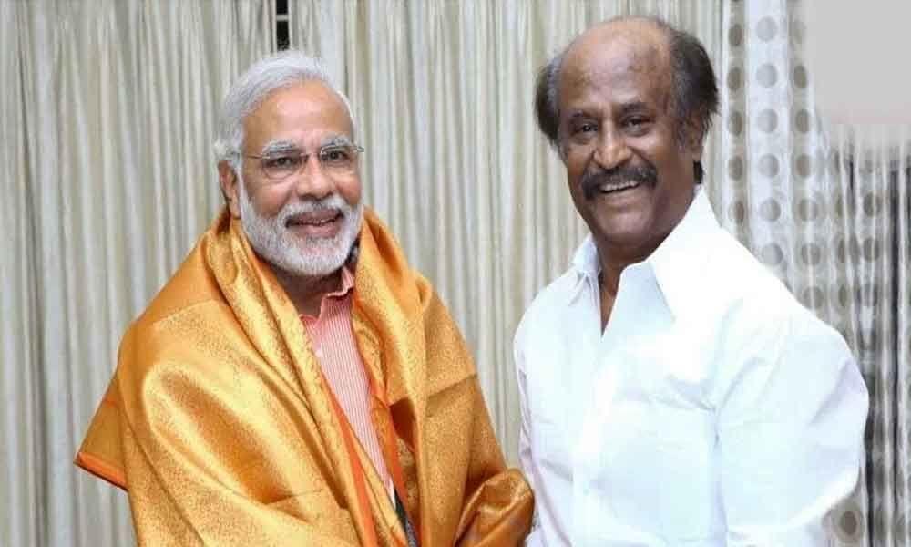 Rajinikanth congratulates Modi