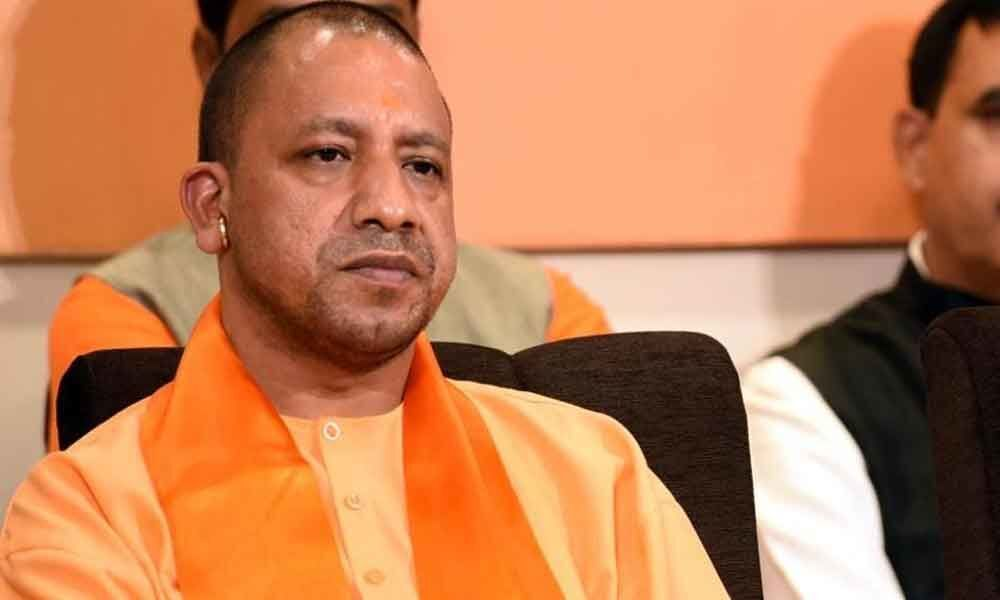 Yogi gets tumultuous welcome at BJP office in Lucknow