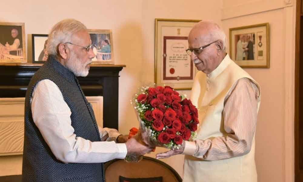 PM Modi meets Advani at the latters residence