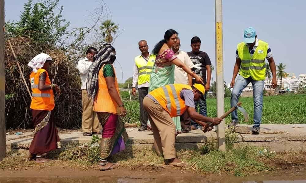 Keep surroundings clean: Corporator Lakshmi Prasanna Goud
