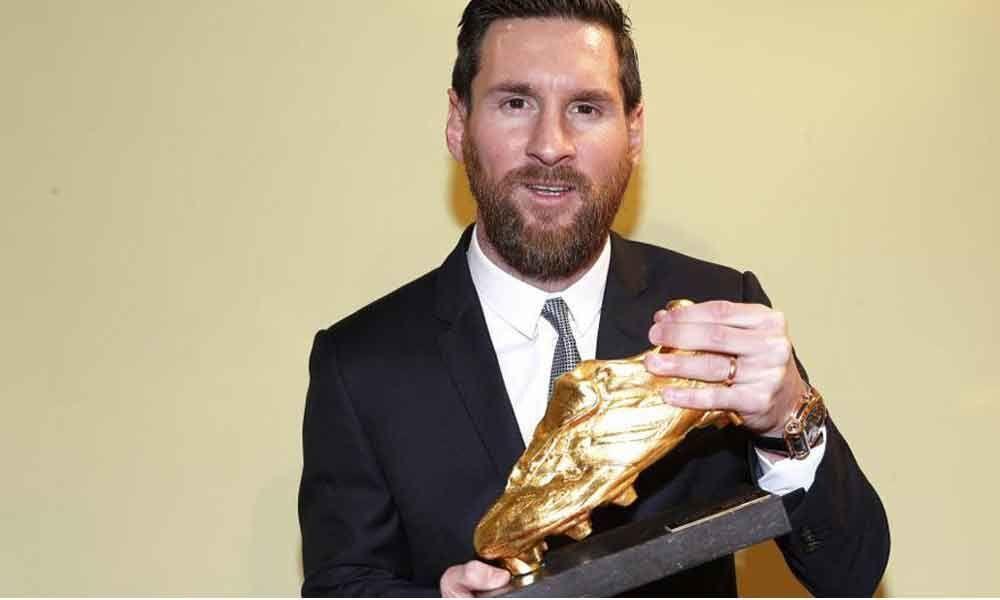 Lionel Messi wins his sixth European Golden Shoe award