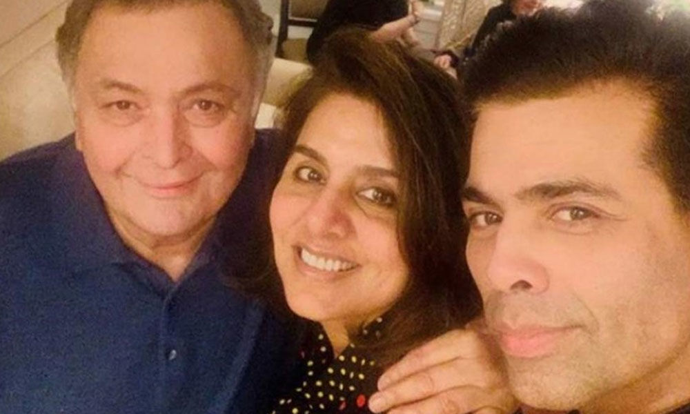 Karan Johar meets his favorite couple of Indian cinema Rishi and Neetu in New York
