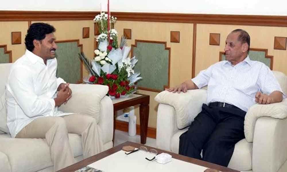 Jagan to meet governor at 4.30 p.m