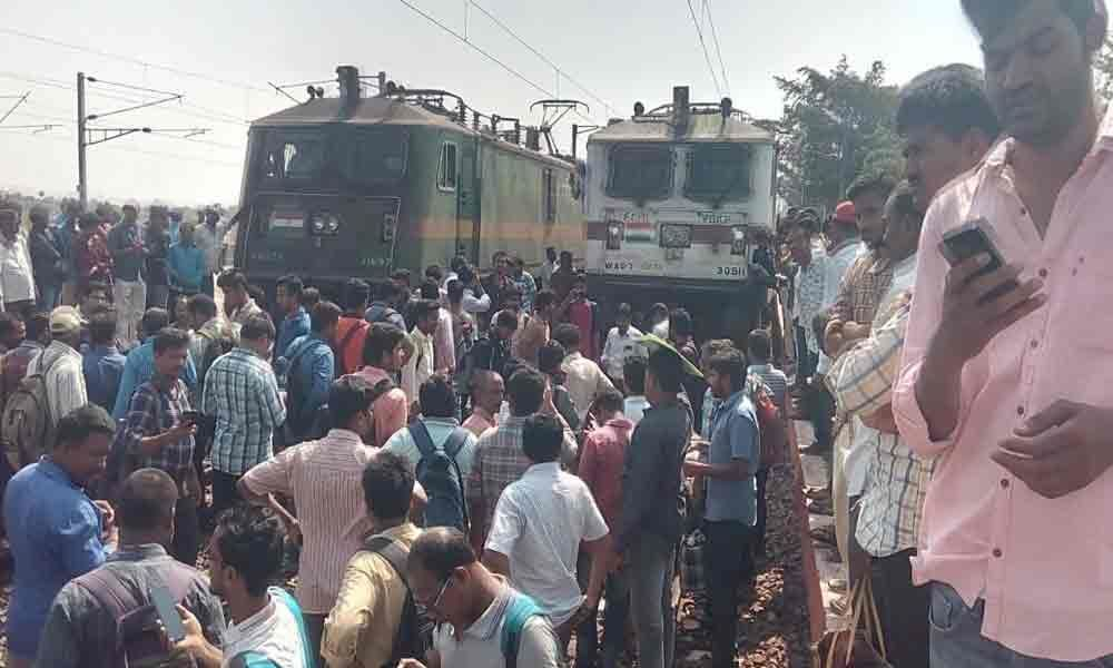 Passengers protest late running of train
