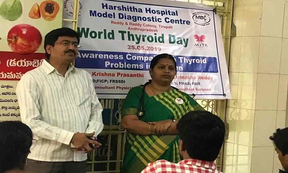 Thyroid awareness campaign organised
