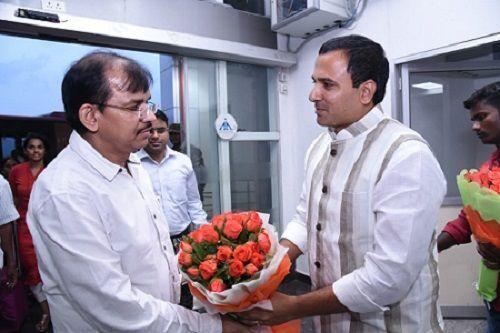 CEO Dwivedi reaches Tirupati
