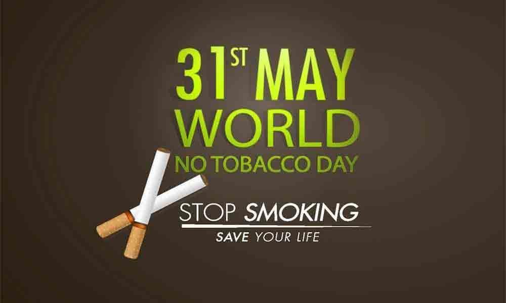 Yellow line campaign in Chhattisgarh on World No Tobacco Day
