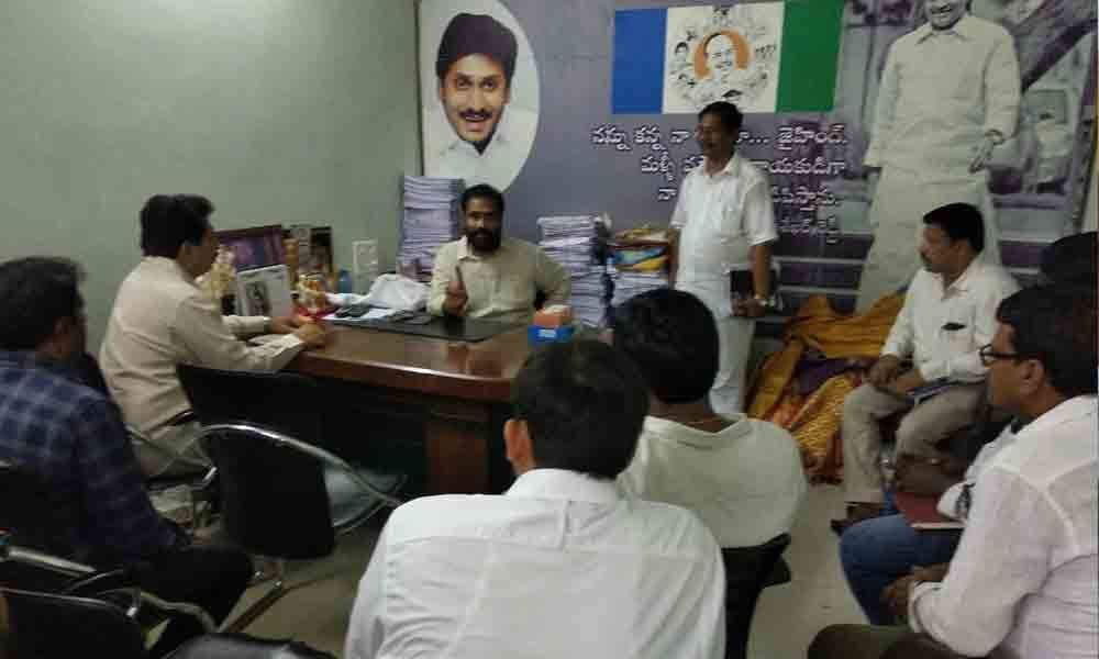MLA-elect conducts review meeting with officials in Nellore