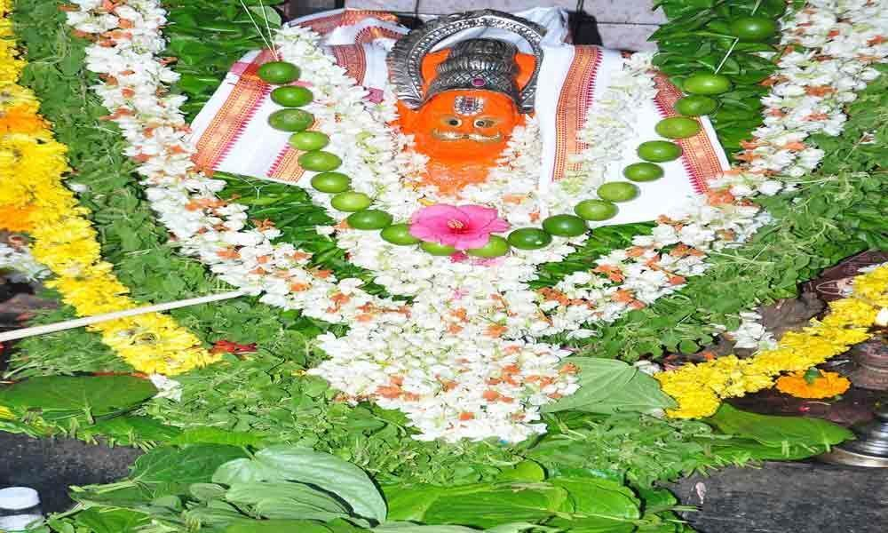 Special pujas performed to Lord Anjaneya
