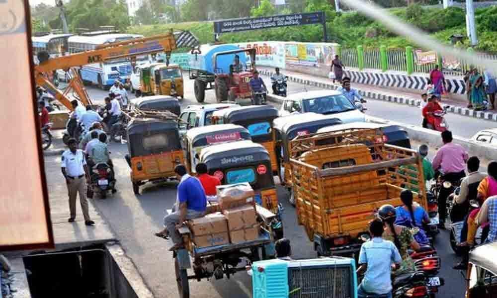 Traffic diversions in Guntur district