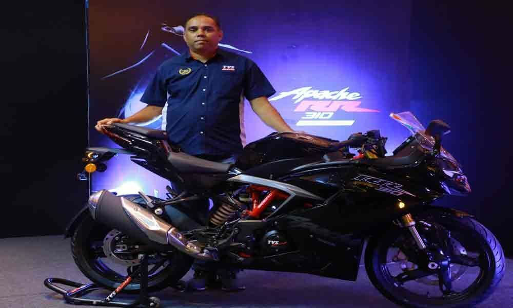 TVS rides in upgraded Apache RR 310 bike