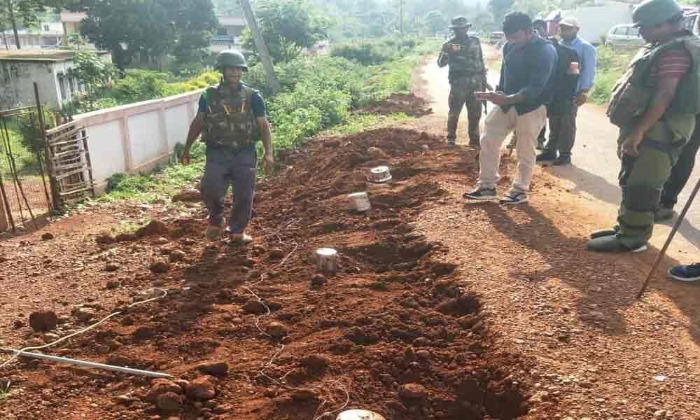 Police diffuse 4 landmines in Vizag Agency area