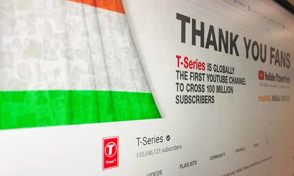 T-Series set the record of first YouTube channel to cross 100 million subscribers