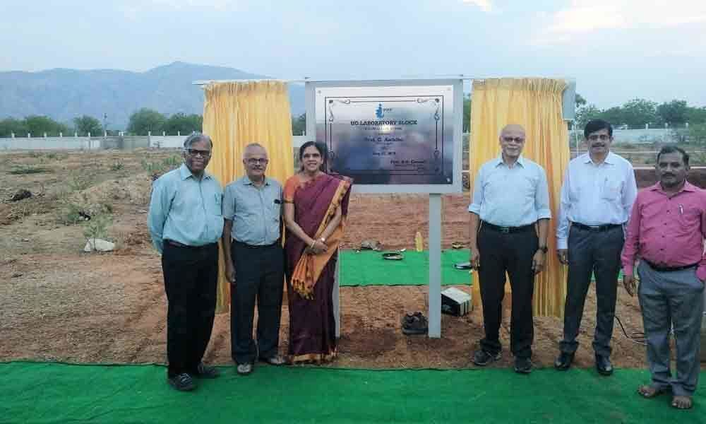 Stone laid for laboratory complex in IISER