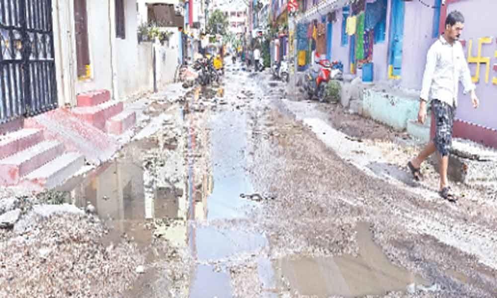 Overflowing drain causing hardships