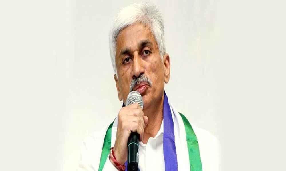 VijaySai Reddy appointed as YSRCPs  parliamentary Party Chief