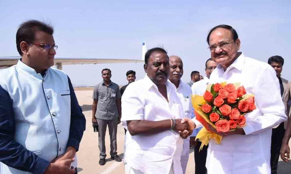 Vice-President of India M Venkaiah Naidu leaves for Delhi